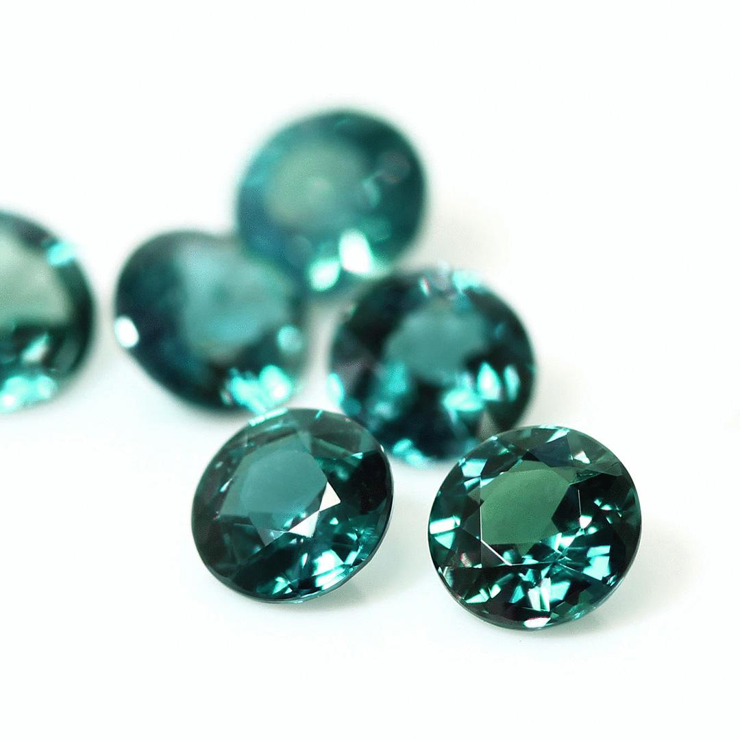 アレキサンドライト(ブラジル産)×ダイヤモンド K18/PTリング・フルーレット
