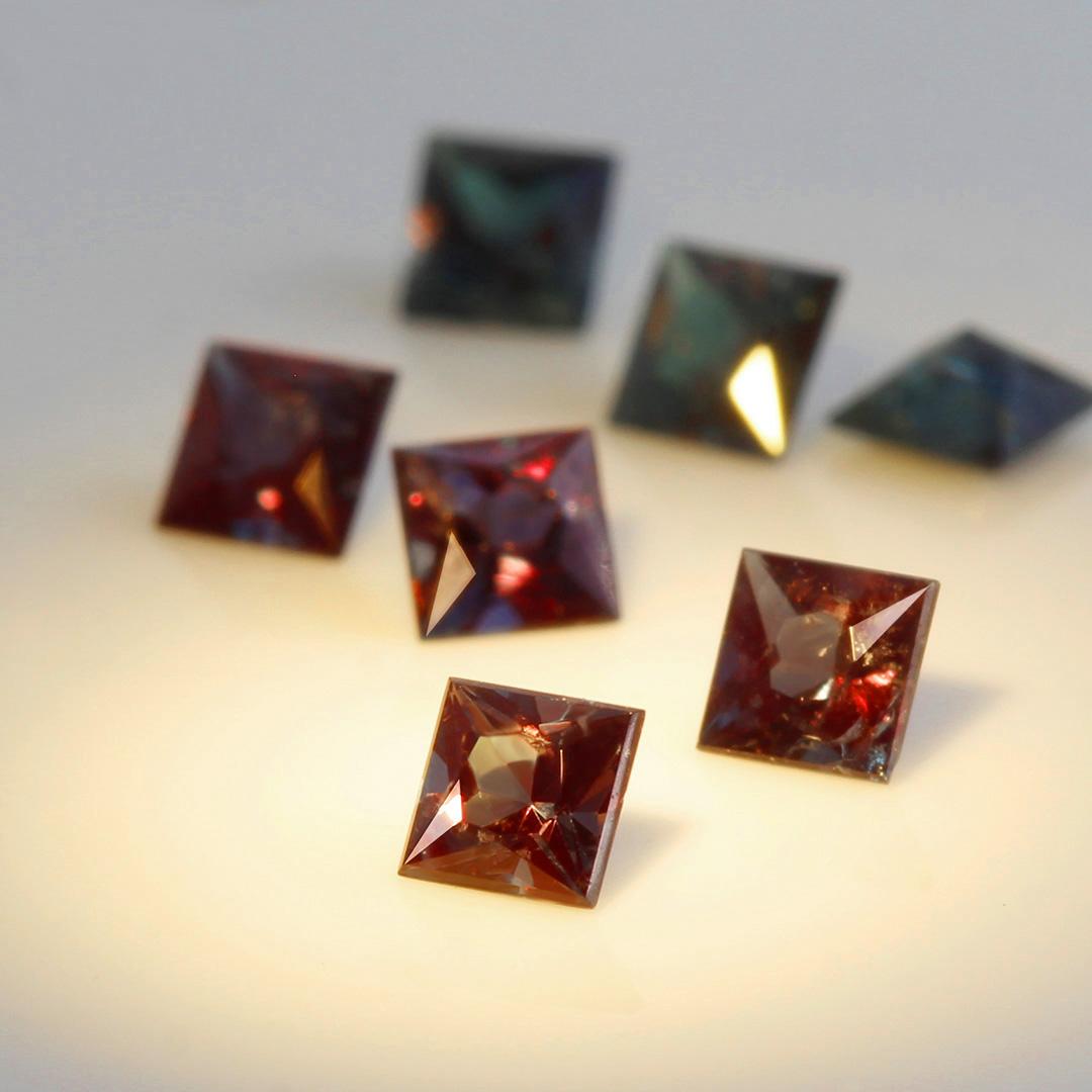 アレキサンドライト(ブラジル産)×ダイヤモンド K18/PTリング・リディ