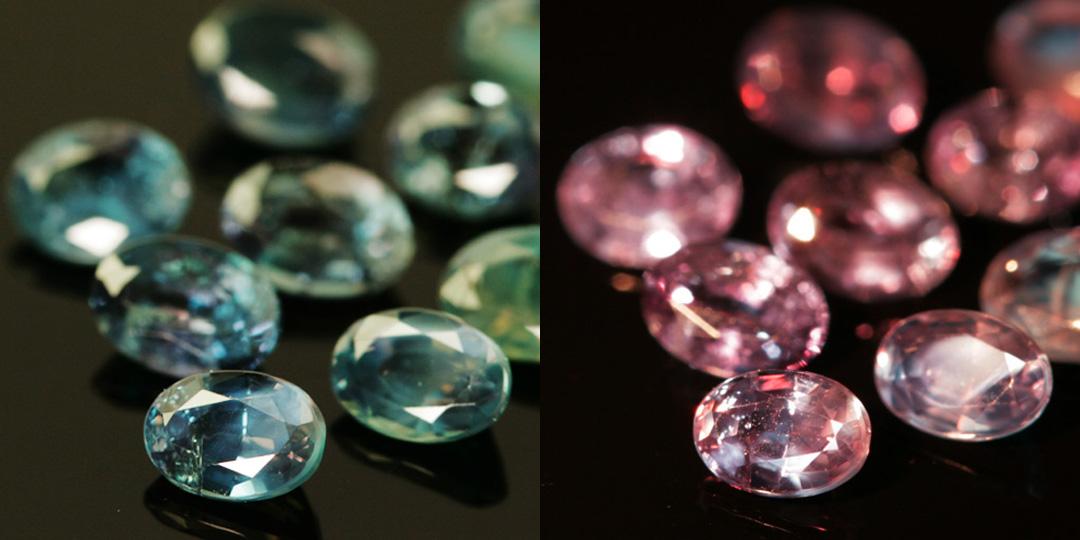 アレキサンドライト×ダイヤモンドK18/PTリング・リュシル