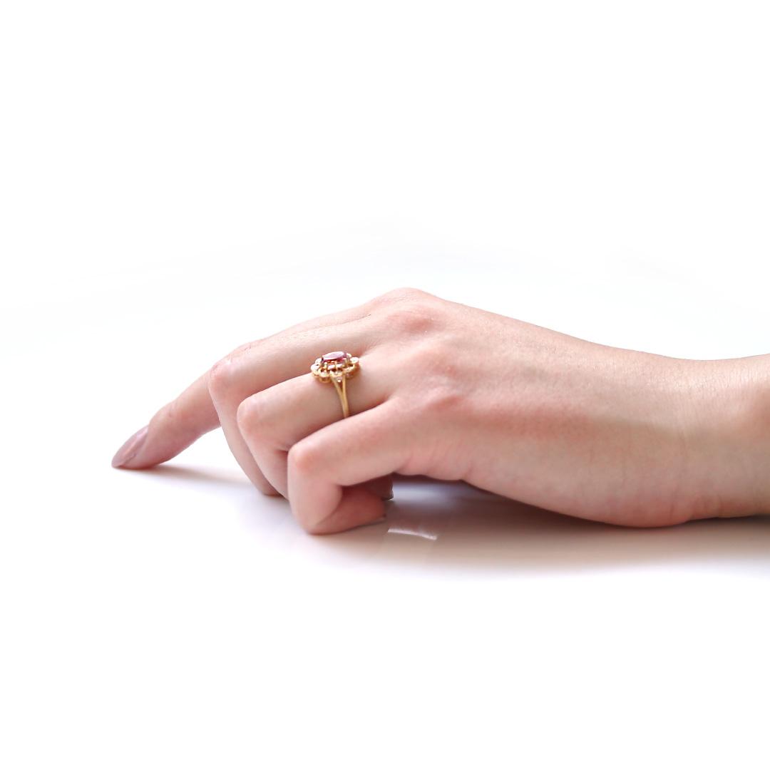 アメトリン(ボリビア産)×ダイヤモンドK18リング・フーラ