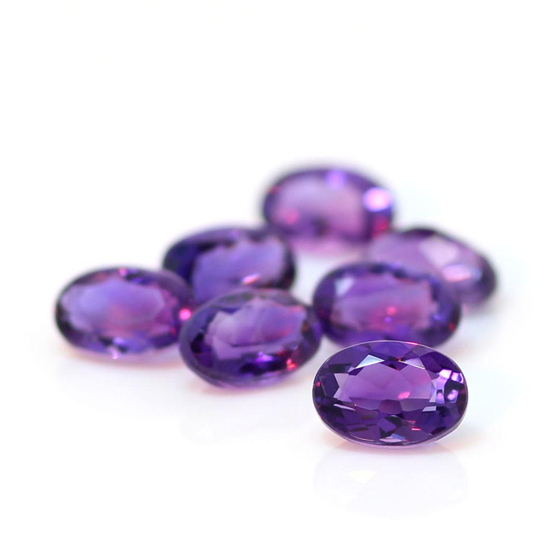 アメジスト(ウルグアイ鉱山産)×ダイヤモンド K18/PTリング・フラヴィ