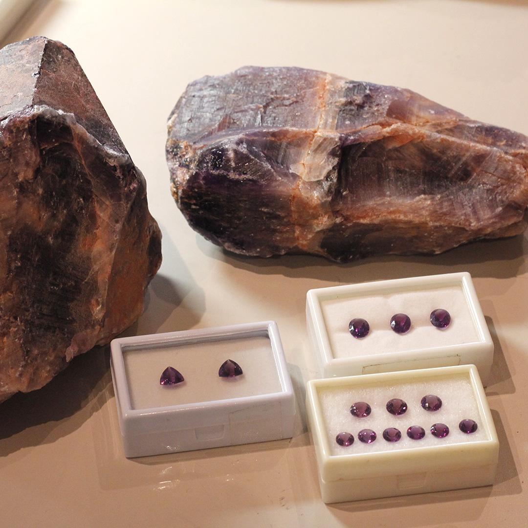 アメジスト(カシャライ産)×ダイヤモンド K18ペンダントトップ・イネス