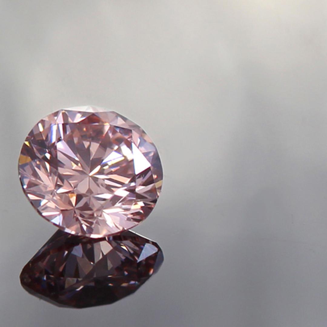 ピンクダイヤモンド K18/PTリング・ソリティア