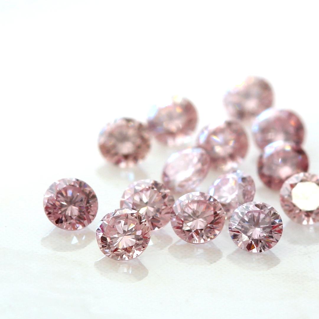 ピンクダイヤモンド(アーガイル産) K18/PTリング・ベル