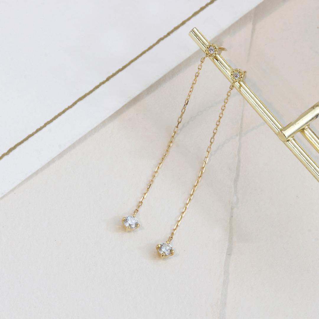 ダイヤモンド(SIクラス) K18/PTピアス・アリゼ