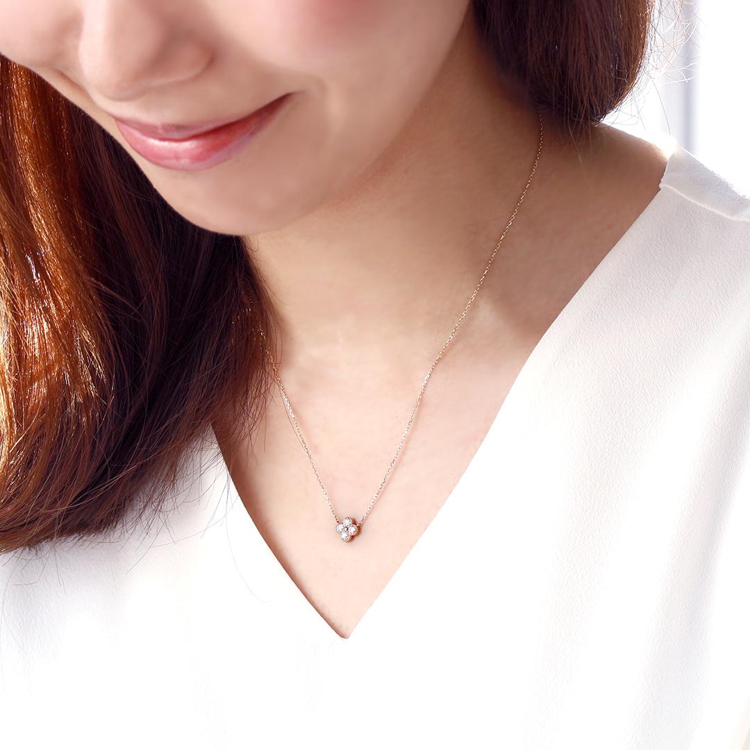 ダイヤモンド(VS-SIクラス)K18ネックレス・アナイス
