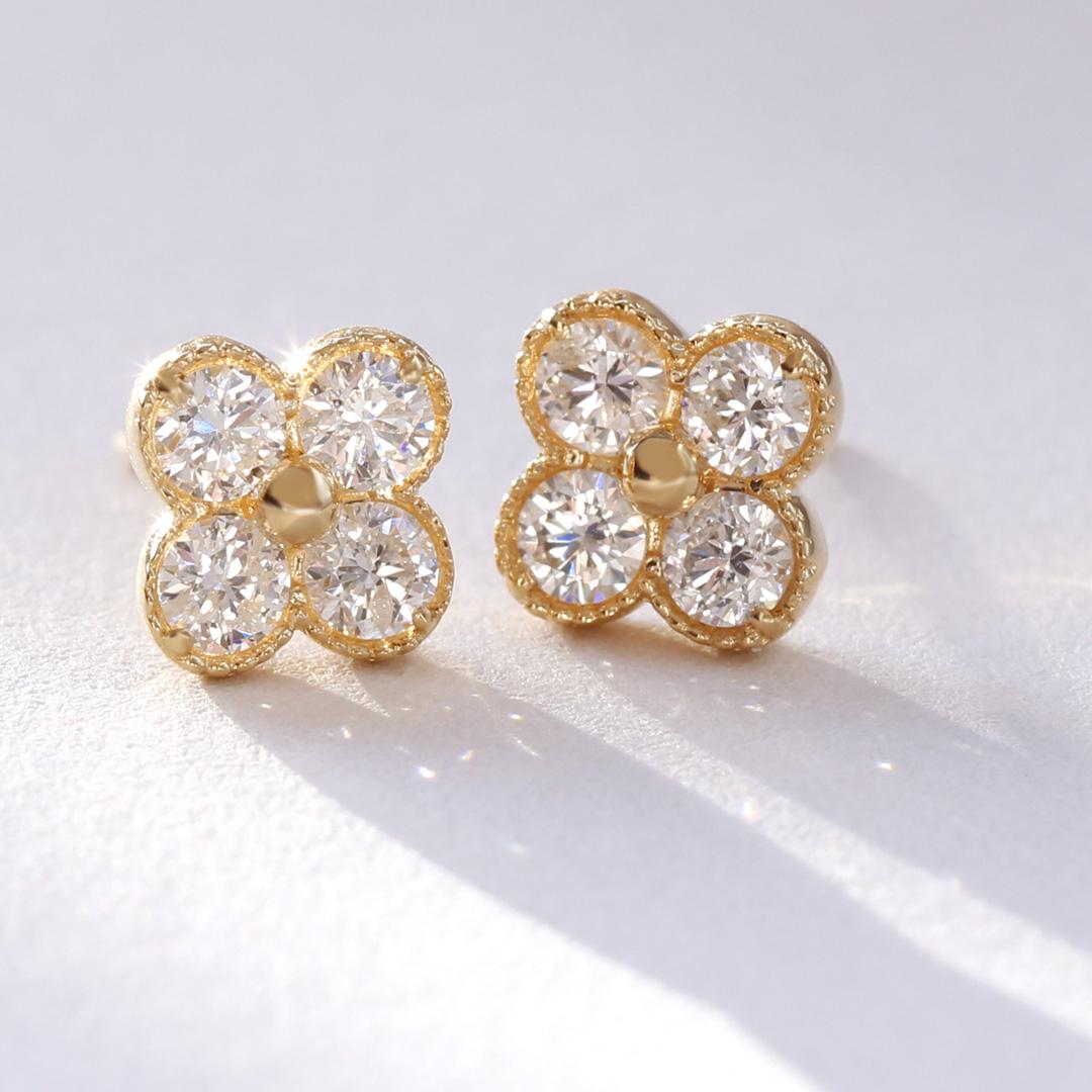ダイヤモンド(VS-SIクラス)K18ピアス・アナイス