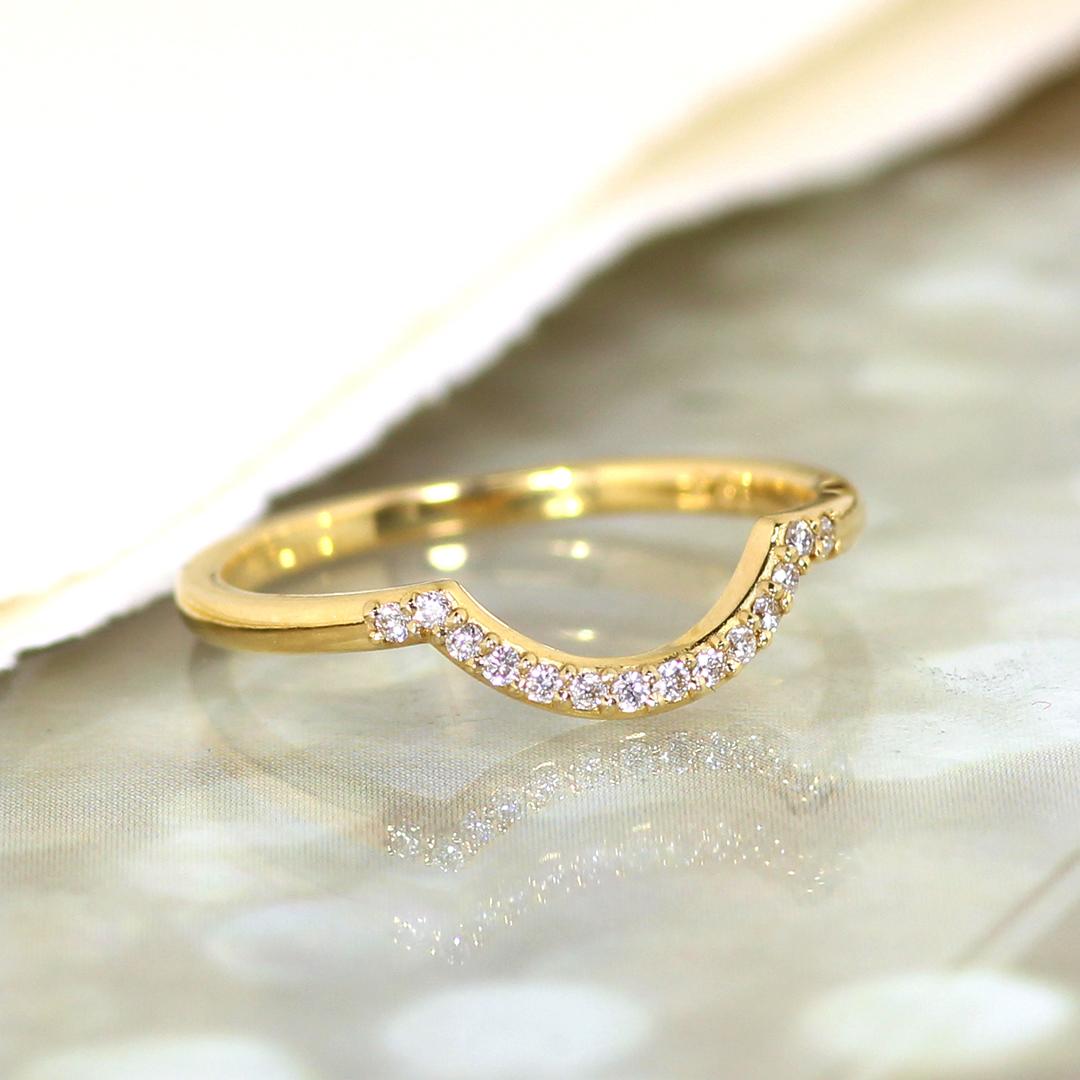 ダイヤモンド(SIクラス相当)K18リング・ベルソー