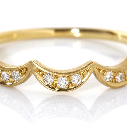 ダイヤモンド K18リング・トリロジー