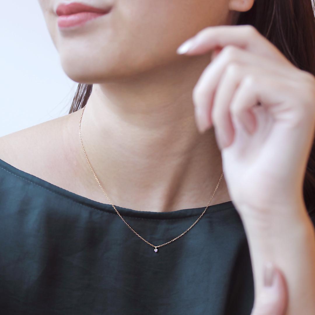 ダイヤモンド K18ネックレス・クレドフチュール