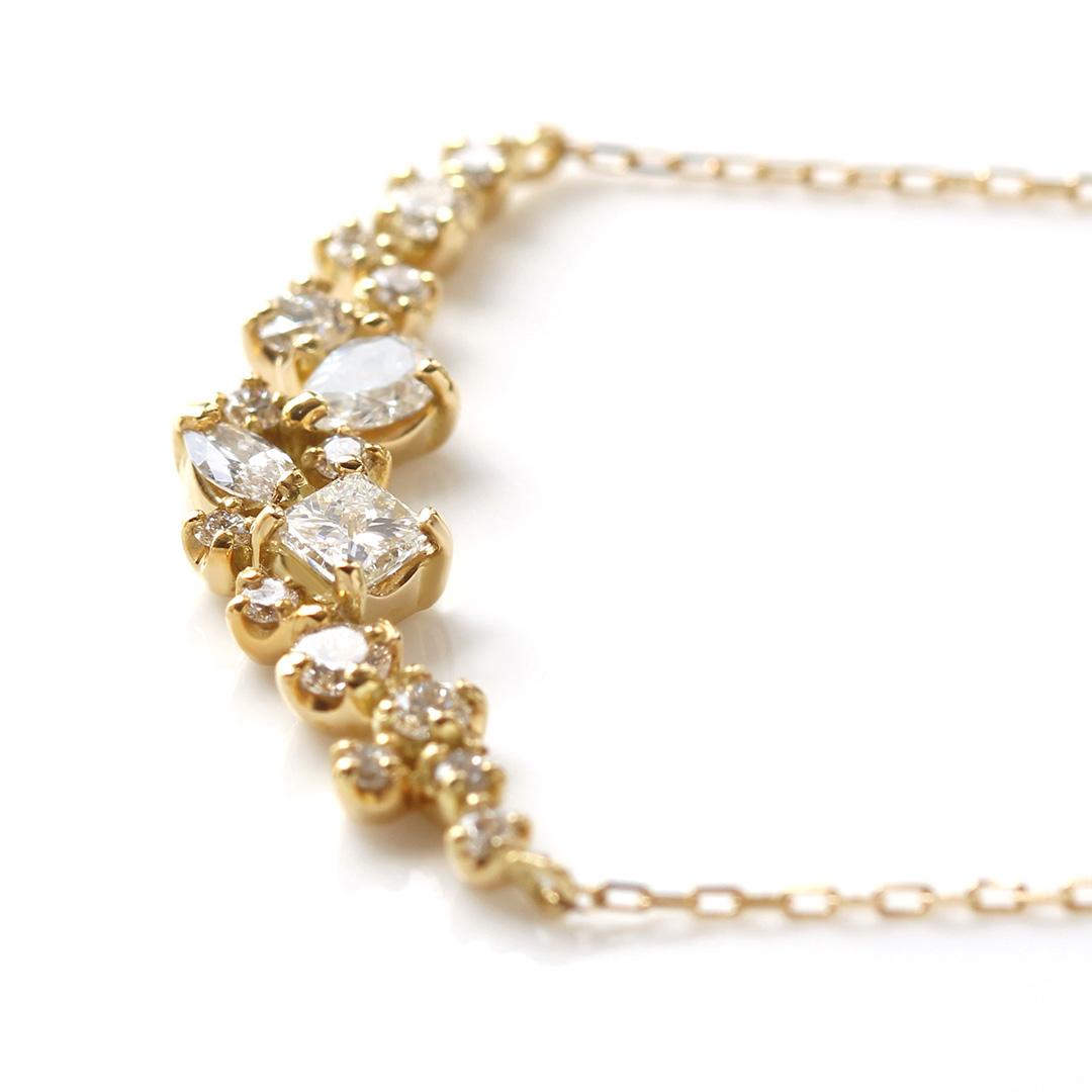 ダイヤモンド(SIクラス)K18/PTネックレス・ルミエールコフレ