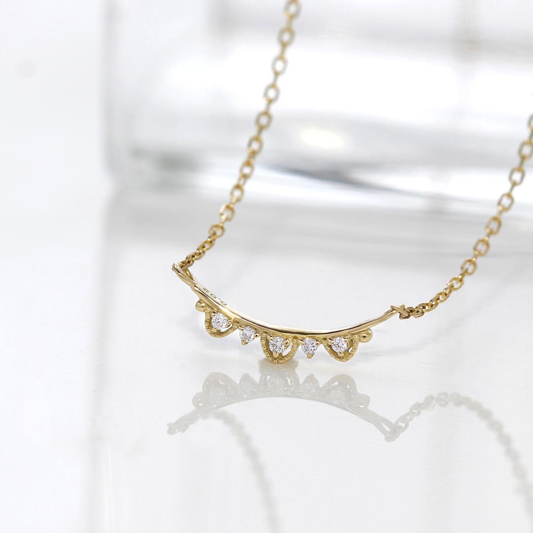 ダイヤモンド K10ネックレス・クロヌ