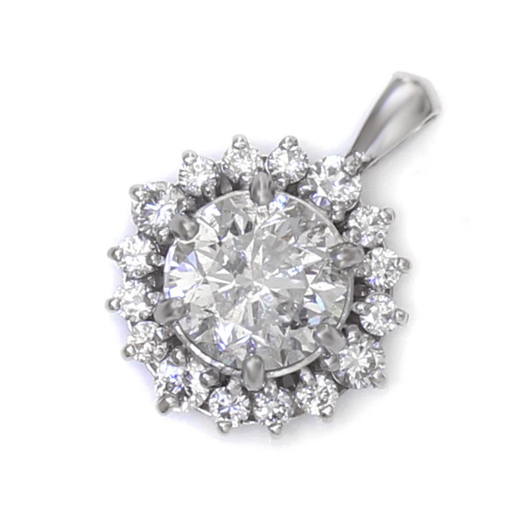 ダイヤモンド K18/PTペンダントトップ・フロレゾン