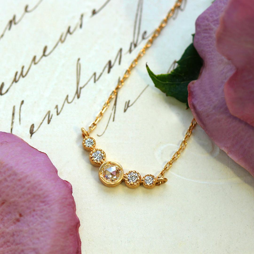 ダイヤモンド(VS-SIクラス) K18/PTネックレス・フランシーネ