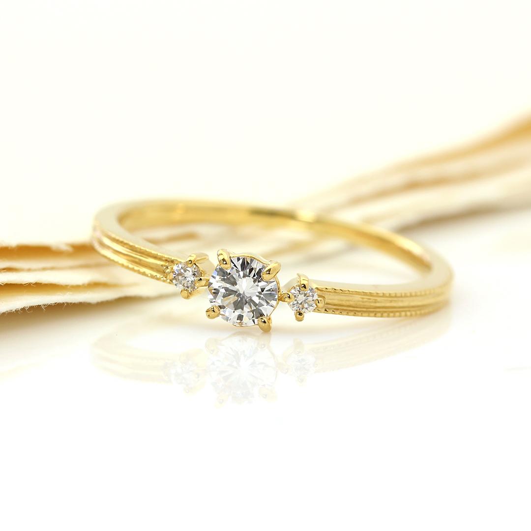 ダイヤモンド(SIクラス) K18/PTリング・リュシル