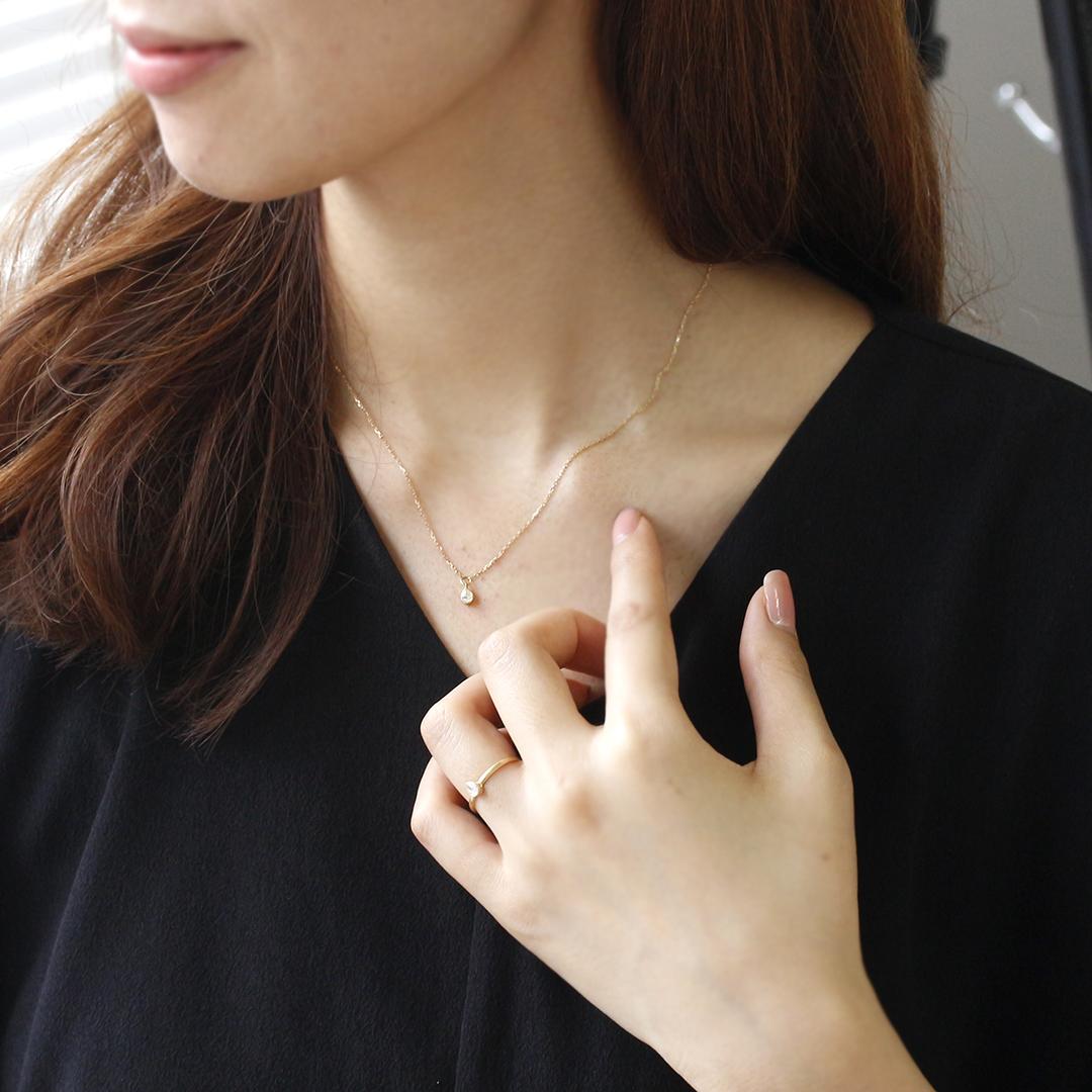 ダイヤモンド(SIクラス) K18/PTネックレス・パスティーユ