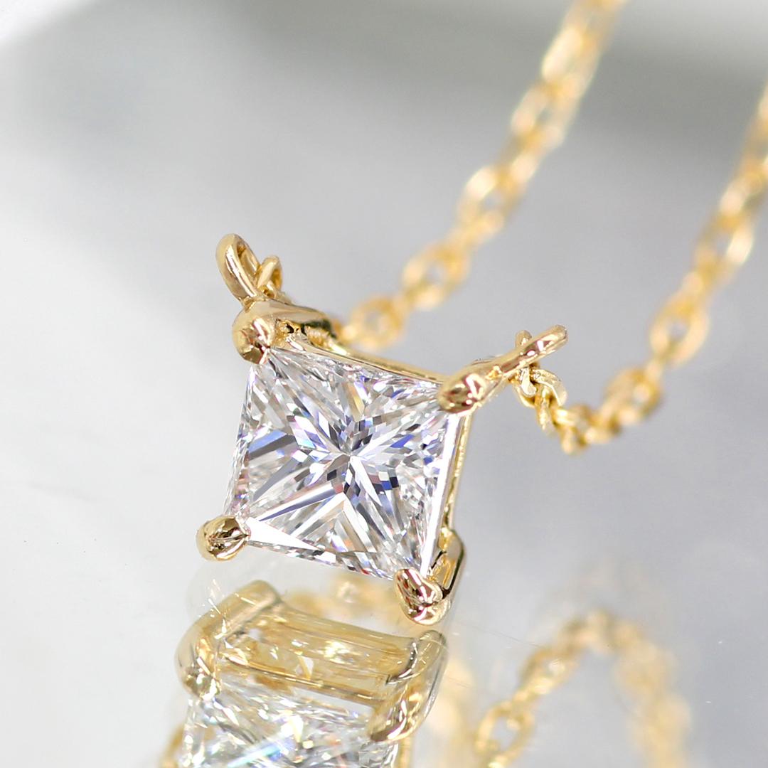 ダイヤモンド(SIクラス以上)K18/PTネックレス・セラム