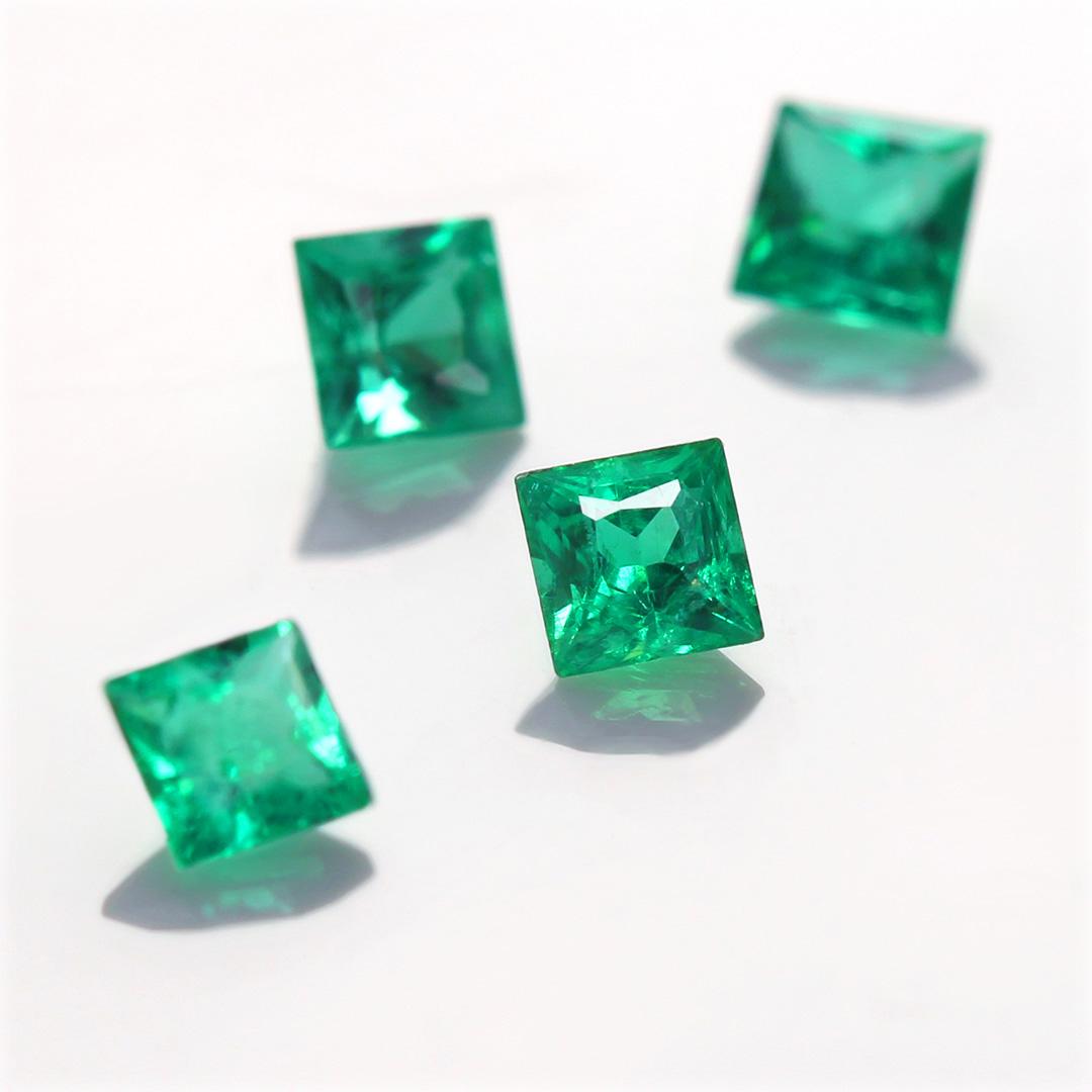 エメラルド(ザンビア産)×ダイヤモンド K18/PTリング・リディ