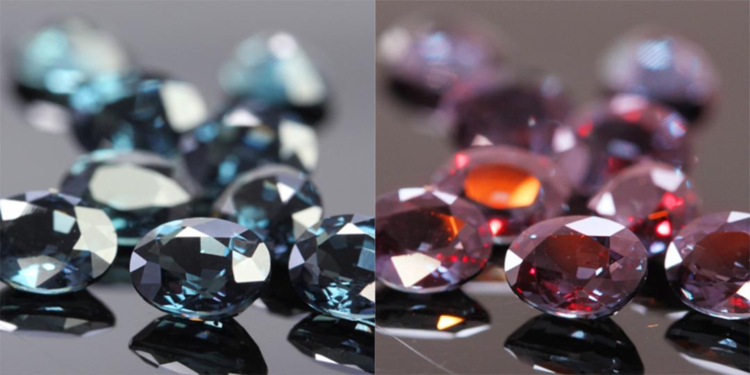 ベキリーブルーガーネット×ダイヤモンド K18/PTリング・フラヴィ