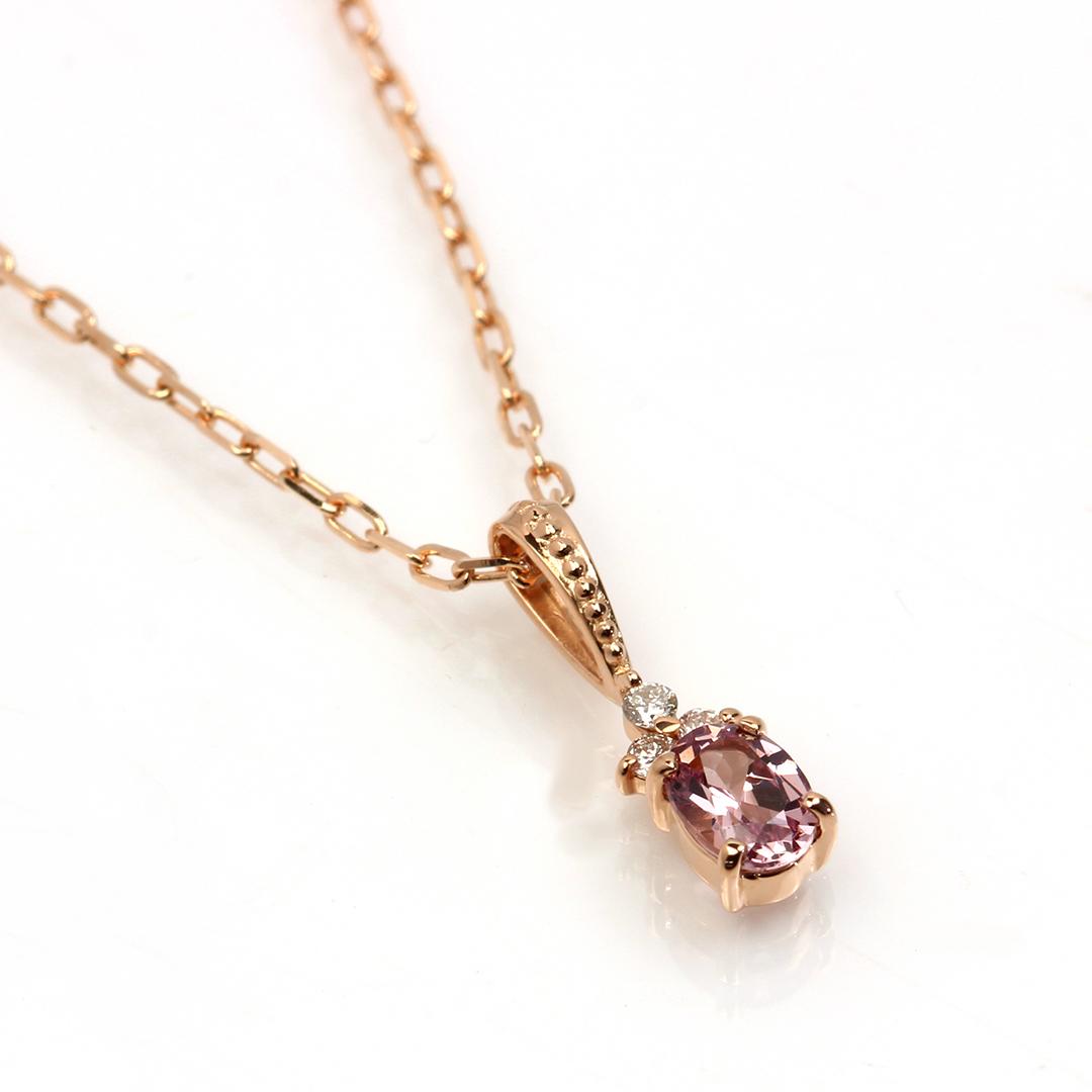 シャンパンガーネット(タンザニア産)×ダイヤモンド K18/PTペンダントトップ・フラヴィ