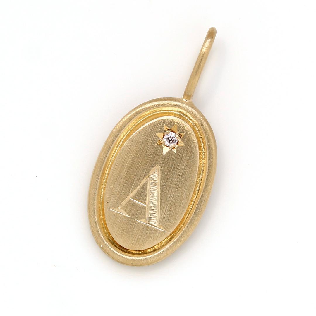 ダイヤモンド K18ペンダントトップ・ポルトボヌール