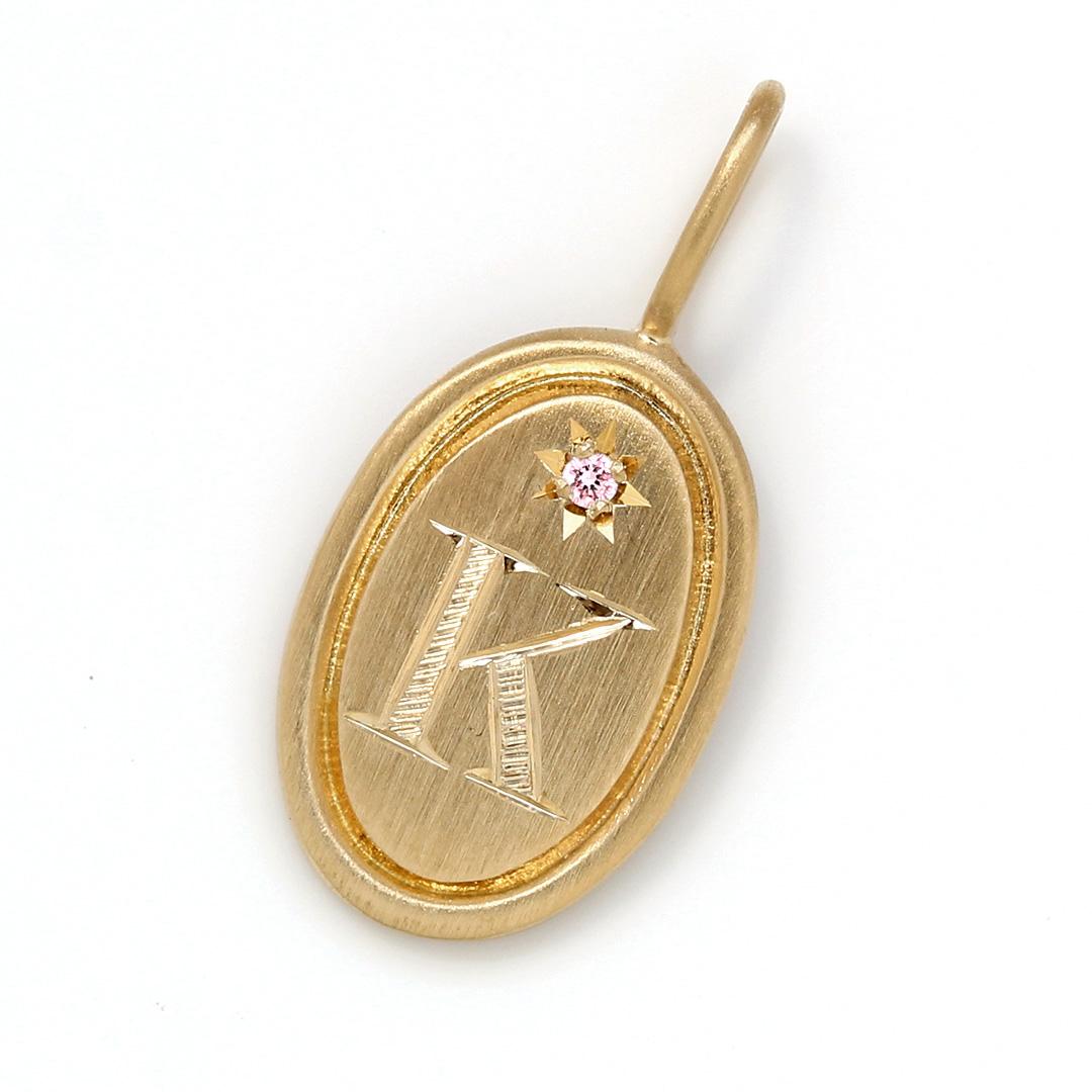 ピンクダイヤモンド K18ペンダントトップ・ポルトボヌール
