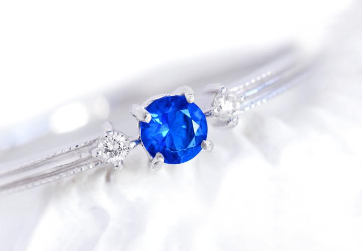 アウイナイト(ドイツ・アイフェル鉱山産)×ダイヤモンドK18/PTリング・リュシル