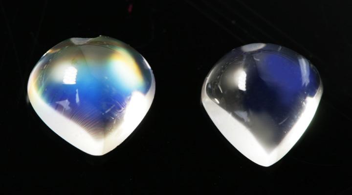 レインボームーンストーン×ダイヤモンド K18リング・ルナクール