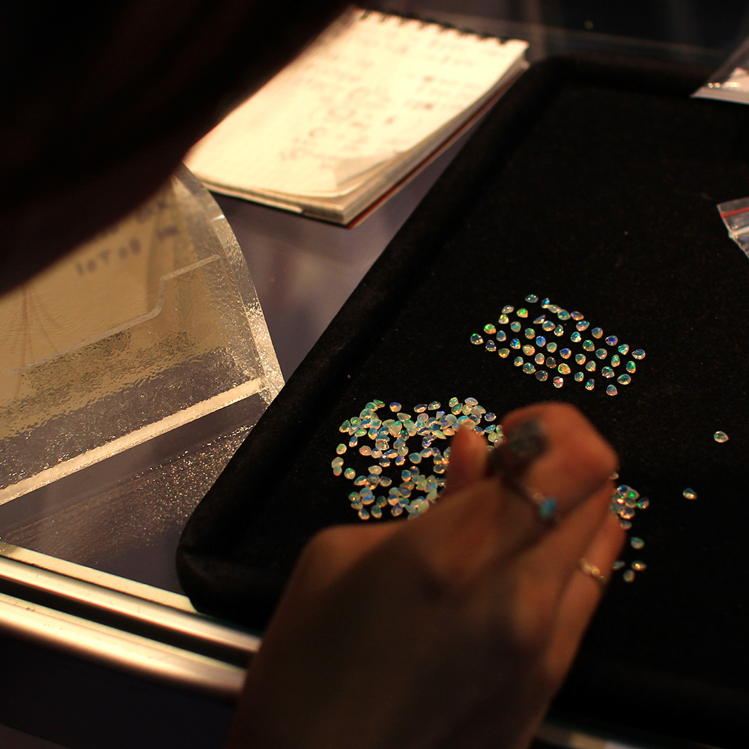 オパール(エチオピア産)×ダイヤモンドK18リング・ブリジット
