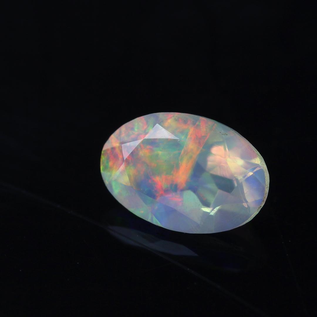 オパール(エチオピア産)×ダイヤモンド K18/PTペンダントトップ・フラヴィ