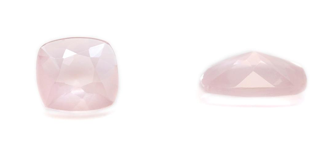 ピンクオパールK18ピアス・シュエット