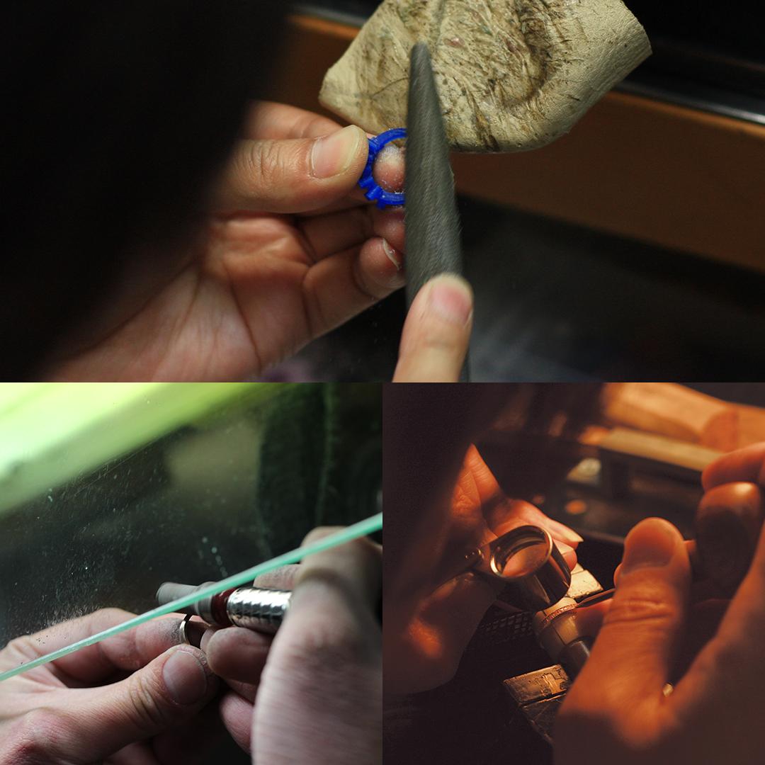 ルベライト(ブラジル産)×ダイヤモンド K18/PTリング・フランシーネ