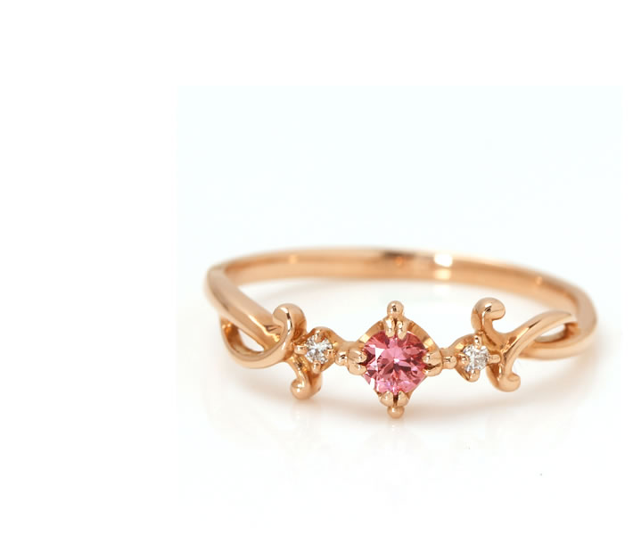 パパラチアサファイア(マダガスカル産)×ダイヤモンド K18リング・ベレニス