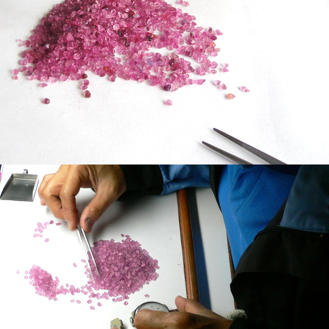 パパラチアサファイア(マダガスカル産)×ダイヤモンド K18リング・ブリジット