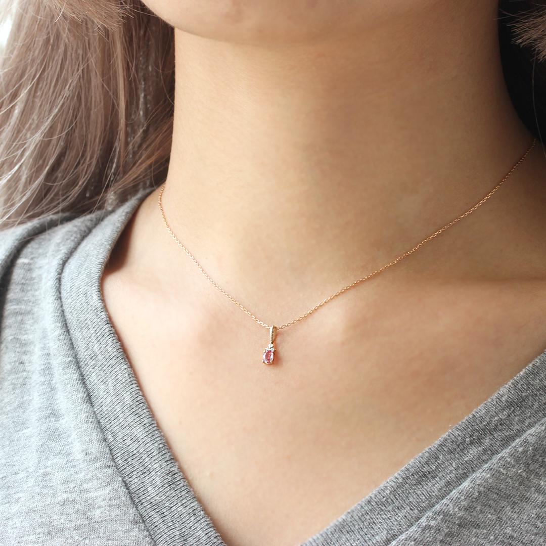 パパラチアサファイア(マダガスカル産)×ダイヤモンド K18/PTペンダントトップ・フラヴィ