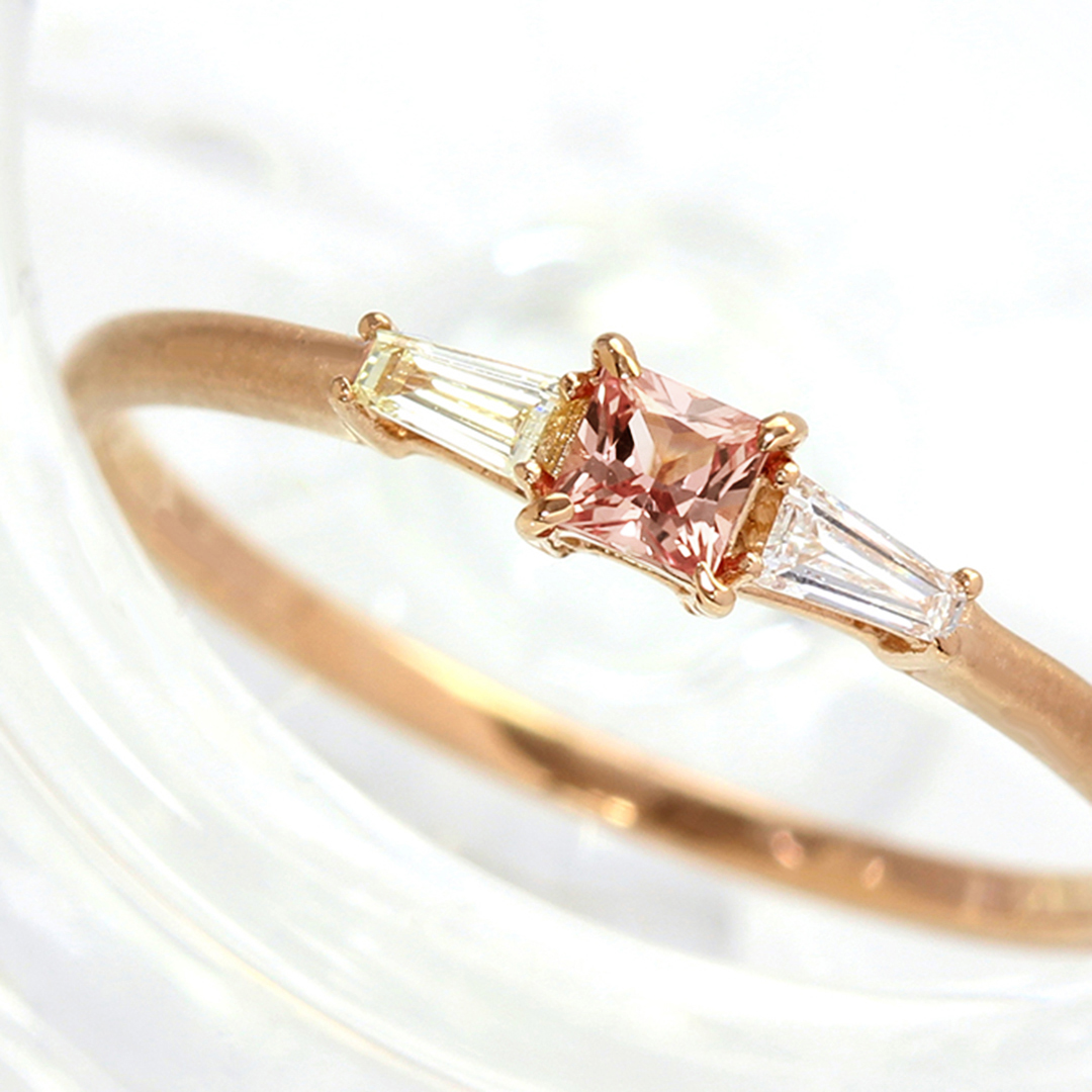 パパラチアサファイア(マダガスカル産)×ダイヤモンド K18リング・リディ