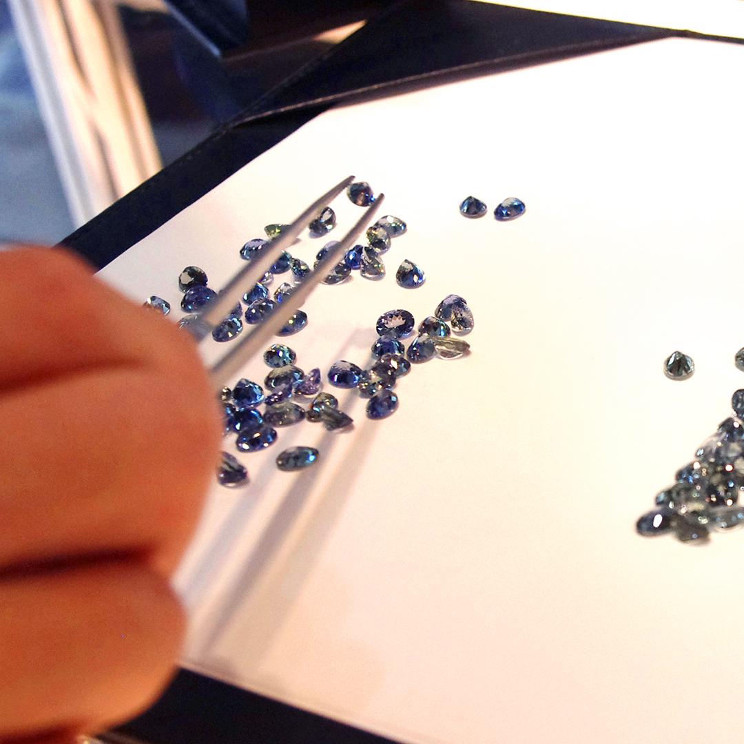 タンザナイト×ダイヤモンドK18/PTペンダントトップ・フーラ