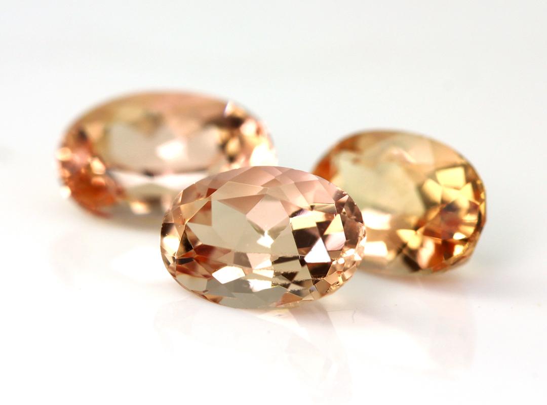 インペリアルトパーズ(ブラジル産)×ダイヤモンド K18リング・フーラ