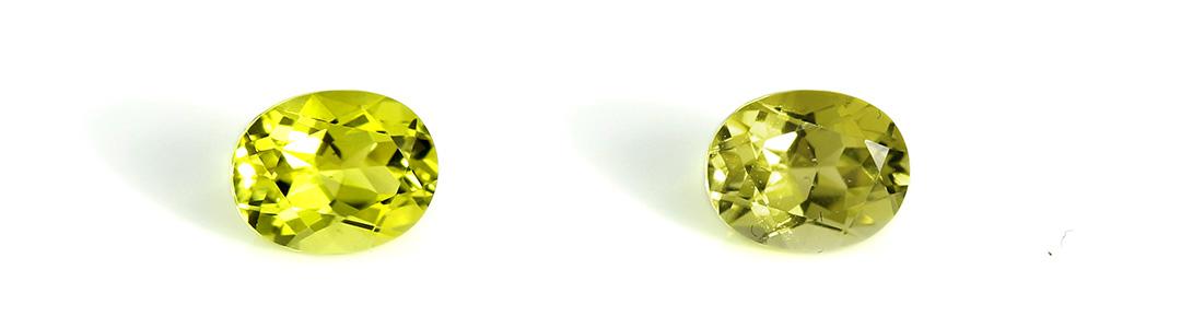 カナリーイエロートルマリン×ダイヤモンド K18ネックレス・ブリジット